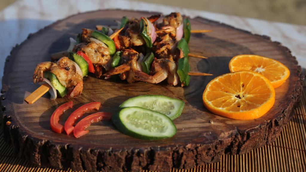 Grilled Prawns Kabab Recipe   Lazzat