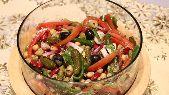 Mediterranean Beans Salad Recipe | Dawat