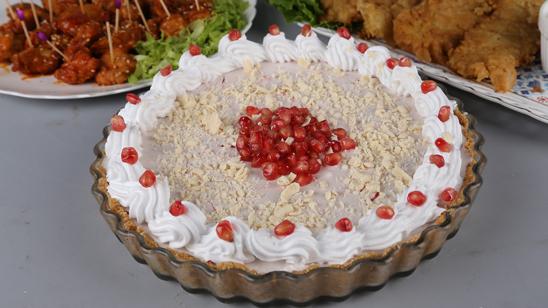Pomegranate and White Chocolate Pie Recipe | Masala Mornings