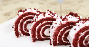 Red Velvet Swiss Roll Recipe | Masala Mornings