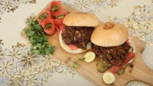 Shredded Beef Burger Recipe | Dawat