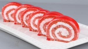 Strawberry Swiss Roll Recipe | Masala Mornings