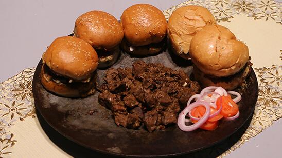 Tawa Kaleji Bun kabab Recipe