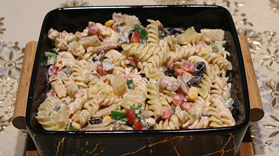 Grilled Chicken and Pasta Salad Recipe   Masala Mornings