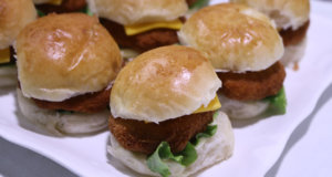 Mini Crispy Fried Burgers Recipe | Flame On Hai