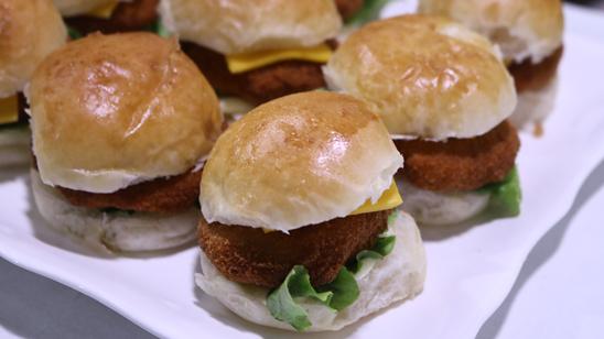 Mini Crispy Fried Burgers Recipe | Flame On Hai
