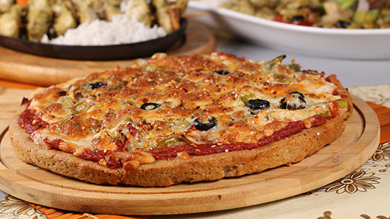 Multigrain Pizza with Vegetables Recipe | Dawat