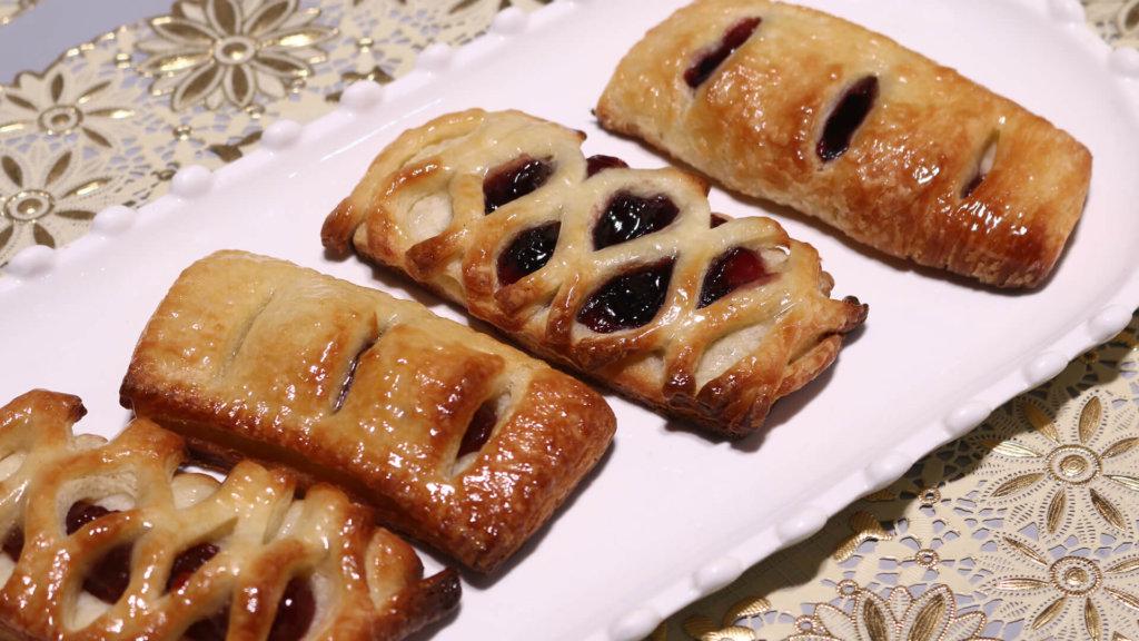 Peach Rose Pastry Recipe | Masala Mornings