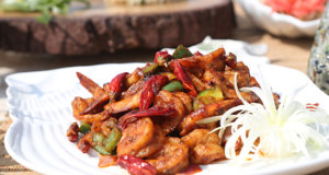 Prawns Chili Dry With Vegetable Recipe | Lazzat