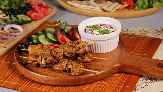 Smokey Chicken Shawarma Platter Recipe | Lazzat