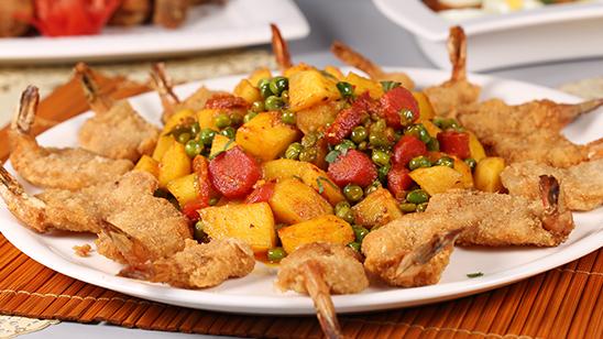 Vegetables With Prawns Recipe | Tarka
