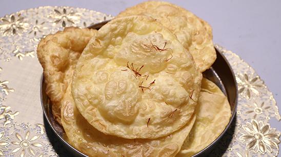 Zafrani Puri Recipe   Tarka