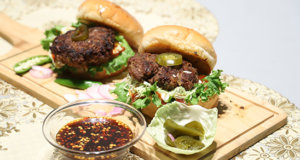 Spicy Beef Burger Recipe | Dawat