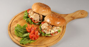 Chicken Steak Burger Recipe | Dawat
