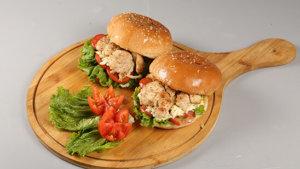 Chicken Steak Burger Recipe   Dawat