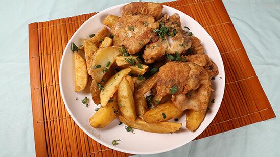 Crispy Fish & Chips Recipe   Tarka