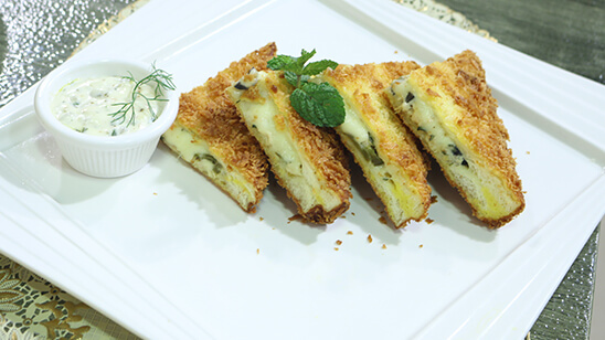 Deep Fried Sandwich with Cheese Recipe | Lively Weekends