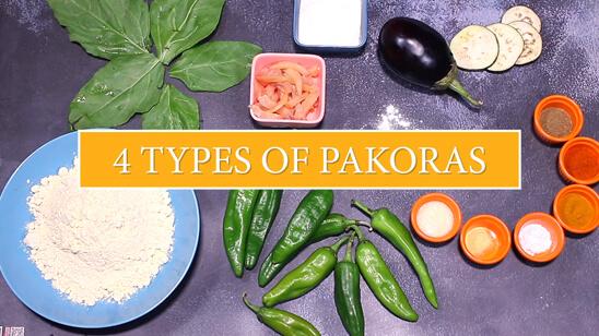 4 Types Of Pakoray | Quick Recipe