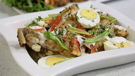 White Chicken Roast Recipe | Lazzat