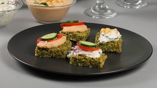 Falafel Flatbreads Recipe   Food Diaries