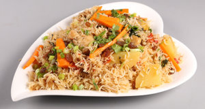 Aalu Bukhara Pulao Recipe | Tarka
