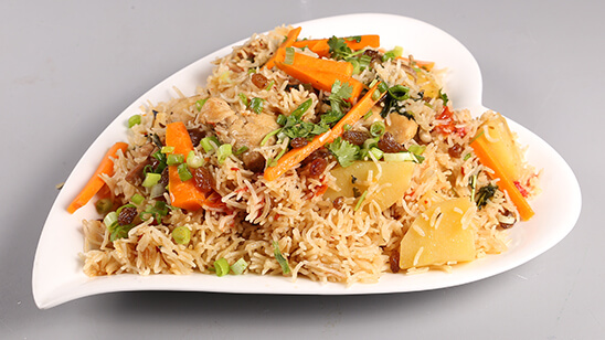 Aalu Bukhara Pulao Recipe   Tarka