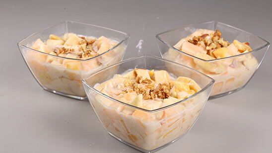 Creamy Fruit Chaat Recipe | Dawat
