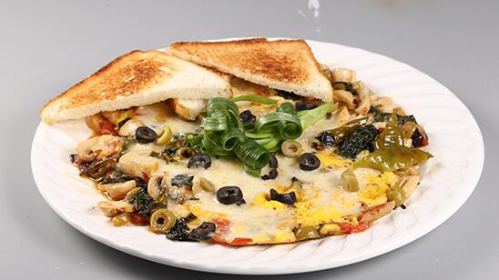 Cheese And Mushroom Omelette Recipe   Dawat