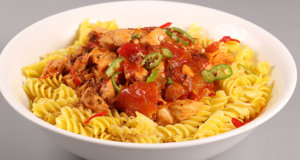 Chicken Chili Pasta Recipe | Tarka