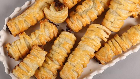Chicken Puff Pastry Roll Recipe   Masala Mornings