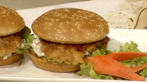 Fried Chicken Sandwich and Chicken Biryani