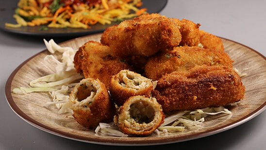 Fried Roulade Recipe | Flame On Hai