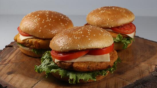 Cheesy Pakora Burger Recipe | Lazzat