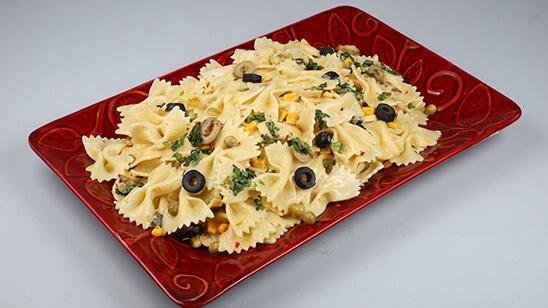 Creamy Bow Tie Pasta Recipe   Dawat