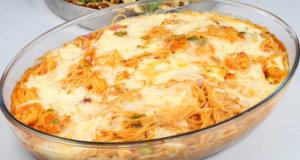 Tikka Spaghetti Casserole Recipe | Masala Mornings