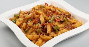 Sesame Chili Garlic Potatoes Recipe | Lazzat