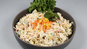 Coleslaw Pasta Salad Recipe | Lazzat