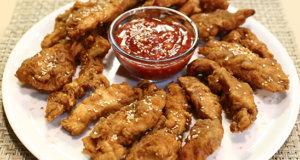 Crispy Chicken Tender With Dip Recipe | Tarka