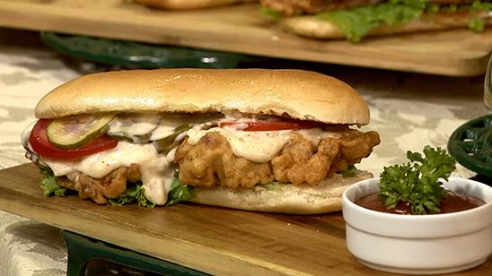 Fish Sandwich Po Boy Recipe   Lazzat