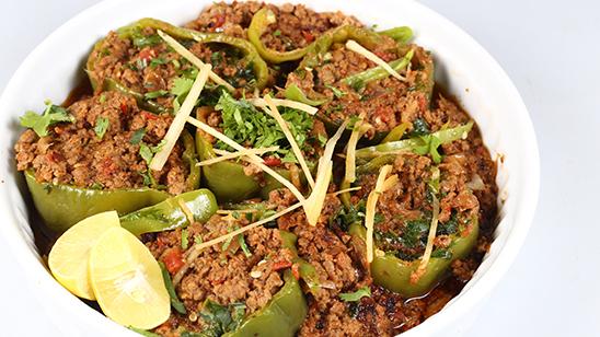 Qeema Bhari Shimla Mirch Recipe   Flame On Hai