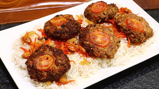 Afghani Rice With Chapli Kabab Recipe   Flame On Hai