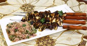 Aubergine Kabab With Onion Salsa Recipe | Dawat