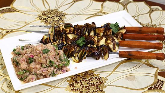 Aubergine Kabab With Onion Salsa Recipe   Dawat