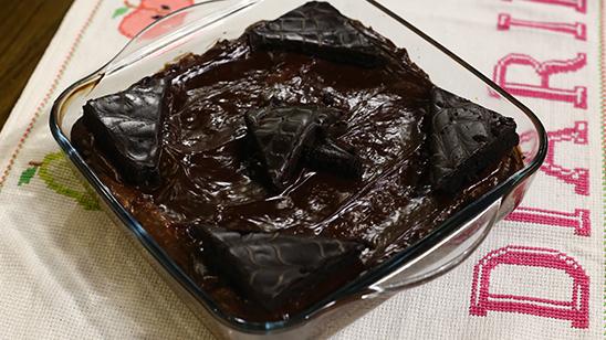 Chocolate Cake Pudding Recipe   Food Diaries