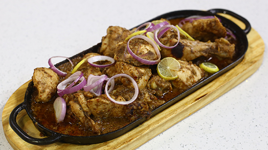 Sizzling Chicken Bihari Recipe | Lazzat