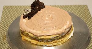 Tripple Chocolate Crepe Cake Recipe | Flame On Hai