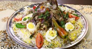Zafrani Raan Pulao Recipe | Tarka