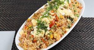 Shrimp Fajita Rice Recipe | Masala Mornings