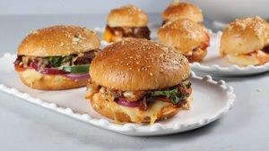 Cheesy Beef Sliders Recipe | Lazzat
