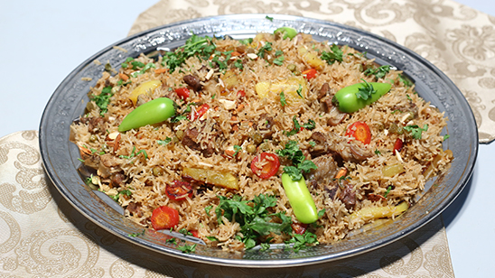 Beef Rice With Vegetables Recipe | Tarka